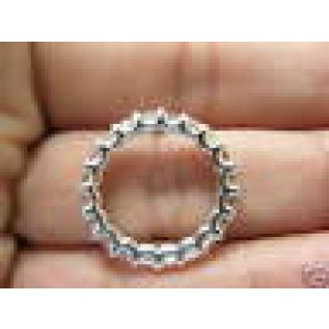 Fine Asscher Cut NATURAL Diamond Eternity Ring 3.75Ct White Gold Size 4