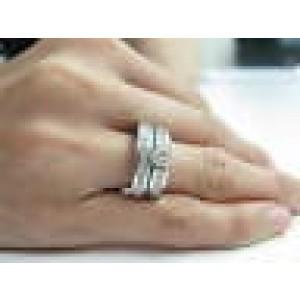 Platinum Round Cut Diamond White Gold Wedding Set 1.45CT EGL USA
