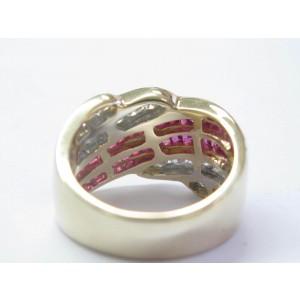 Fine Ruby & Diamond WIDE Yellow Gold Jewelry Ring 2.42Ct 14KT
