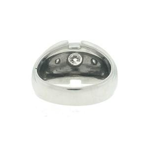 14k White Gold 3 Stone Diamond Men's Ring Approx.50ctw