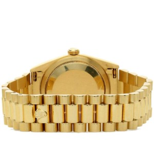 Rolex Day-Date 36mm 18238 Men's Yellow Gold Automatic White 1 Year Warranty