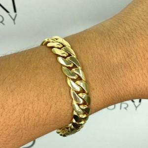 14k Yellow Gold 11.9mm Cuban Link Men's Bracelet