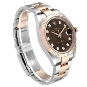 Rolex Datejust 126331 Everose Gold New July 2021 Chocolate Watch 41mm