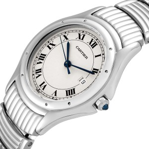 Cartier Santos Ronde Silver Dial Steel Unisex Watch W20027K1
