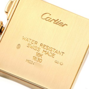 Cartier Tank Francaise Chronoflex 18K Yellow Gold Mens Watch W5000556