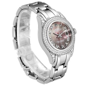 Rolex Pearlmaster White Gold MOP Diamond Ladies Watch 69359