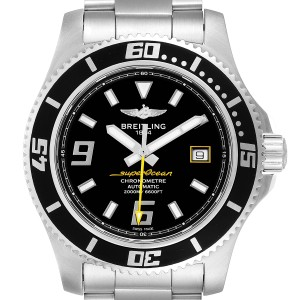Breitling Superocean 44 Yellow Hand Steel Mens Watch A17391