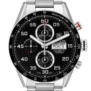 Tag Heuer Carrera Black Dial Chronograph Steel Mens Watch CV2A1R
