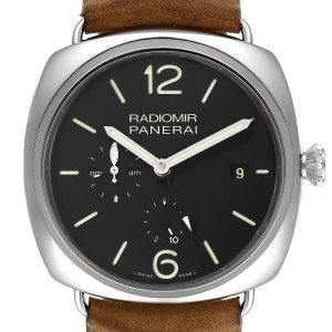 Panerai Radiomir Acciaio 47mm 10 Days GMT Steel Watch PAM00323