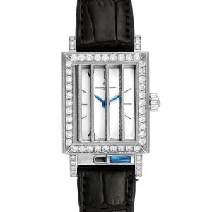 Vacheron Constantin Jalousie Shutter White Gold Diamond Ladies Watch 91002