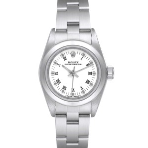 Rolex Oyster Perpetual Nondate White Dial Steel Ladies Watch 67180