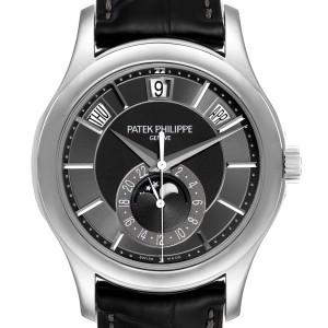Patek Philippe Complications Annual Calendar White Gold Watch 5205