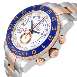 Rolex Yachtmaster II Rolesor EveRose Gold Steel Mens Watch 116681