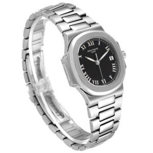 Patek Philippe Nautilus Black Dial Automatic Steel Mens Watch 3800