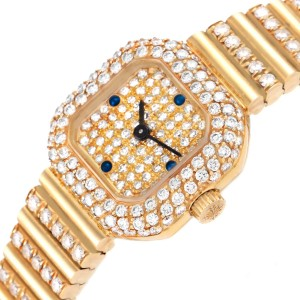Patek Philippe 18K Yellow Gold Diamond Sapphire Coctail Ladies Watch 4628