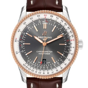 Breitling Navitimer 1 41mm Steel Rose Gold Mens Watch U17326 Unworn