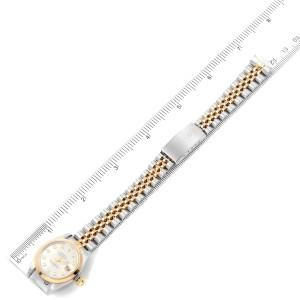 Rolex Datejust Steel Yellow Gold Diamond Ladies Watch 79163 Papers