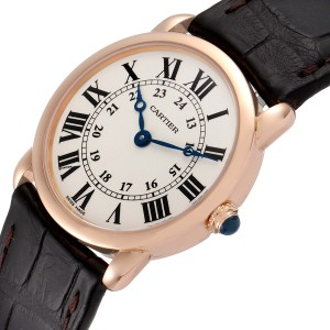 Cartier Ronde Louis 18K Rose Gold Silver Dial Ladies Watch W6800151