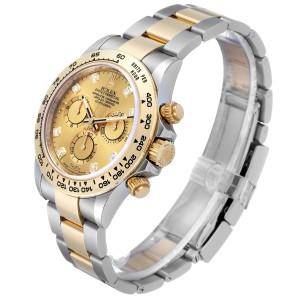 Rolex Cosmograph Daytona Steel Yellow Gold Diamond Watch 116503