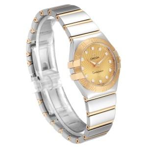 Omega Constellation Steel Yellow Gold Diamond Watch 123.20.27.60.58.002