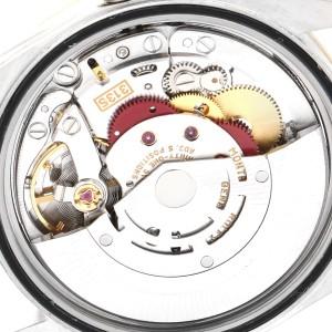 Rolex Datejust Steel Yellow Gold White Dial Diamond Mens Watch 16233