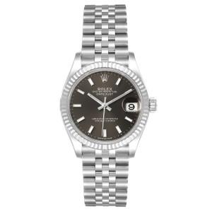 Rolex Datejust Midsize 31 Steel White Gold Slate Dial Watch 278274