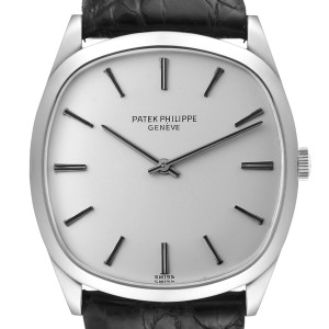Patek Philippe 18k White Gold Silver Dial Vintage Mens Watch 3544