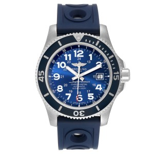 Breitling Superocean II 44 Gun Blue Dial Steel Mens Watch A17392
