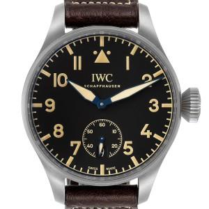 IWC Big Pilot Heritage Black Dial Titanium Mens Watch IW510301 Box Papers