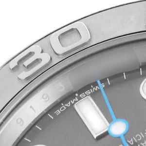 Rolex Yachtmaster Rhodium Dial Steel Platinum Mens Watch 116622