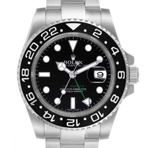Rolex GMT Master II Black Dial Steel Mens Watch 116710