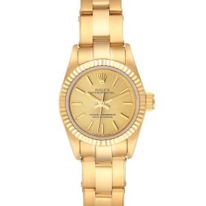 Rolex President No-Date 18K Yellow Gold Ladies Watch 67198