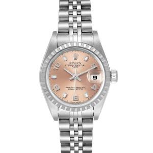 Rolex Date Salmon Dial Jubilee Bracelet Ladies Watch 79240