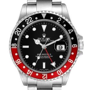 Rolex GMT Master II Black Red Coke Bezel Mens Watch 16710