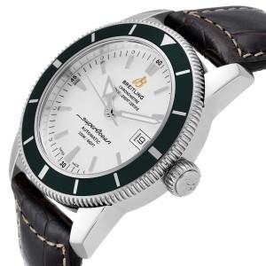 Breitling Superocean Heritage 42 Green Bezel Steel Watch A17321 Box Papers