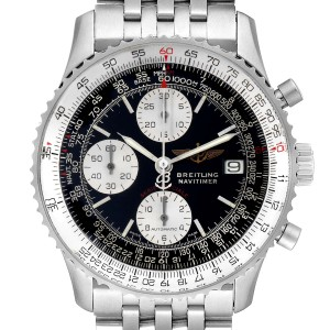 Breitling Navitimer Fighter Chronograph Steel Mens Watch A13330 Box Papers