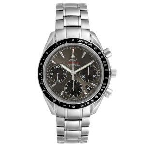 Omega Speedmaster Day Date Gray Dial Watch 323.30.40.40.06.001 Box Card
