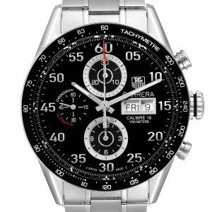 Tag Heuer Carrera Day Date Chronograph Steel Mens Watch CV2A10 Box Card