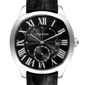 Cartier Drive de Cartier Black Dial Steel Mens Watch WSNM0009 Box Papers