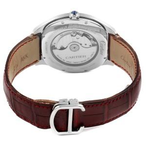 Cartier Drive de Cartier Silver Dial Steel Mens Watch WSNM0004 Box Papers