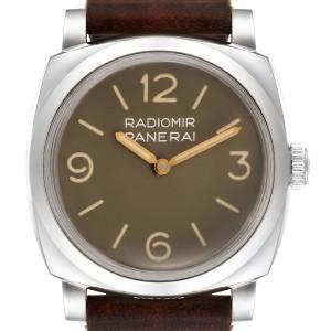 Panerai Radiomir 1940 47mm Brown Dial Steel Mens Watch PAM00662 Box Papers