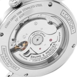 Baume Mercier Clifton Baumatic Automatic Steel Mens Watch 10467 Box Card