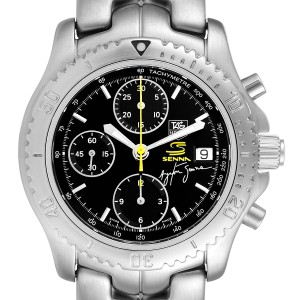 TAG Heuer Link Steel Black Dial Chronograph Mens Watch CT2115 Box Card
