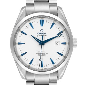 Omega Seamaster Aqua Terra Blue Hands Steel Mens Watch 2502.33.00 Tag
