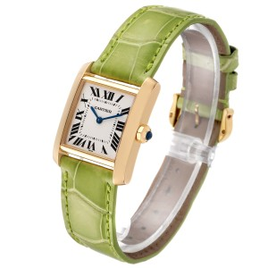 Cartier Tank Francaise Midsize Yellow Gold Ladies Watch W5000356 Box Papers
