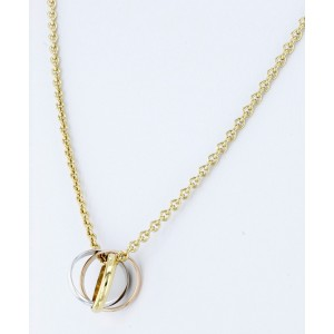Cartier Trinity Pendant Necklace 18K Yellow, White and Rose Gold