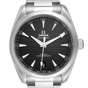 Omega Seamaster Aqua Terra Black Dial Watch 220.10.41.21.01.001 Box Card
