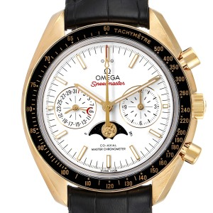 Omega Speedmaster Moonphase Yellow Gold Watch 304.63.44.52.02.001 Box Card