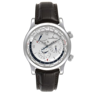 Jaeger Lecoultre Master World Geographic Steel Mens Watch 152.84.20