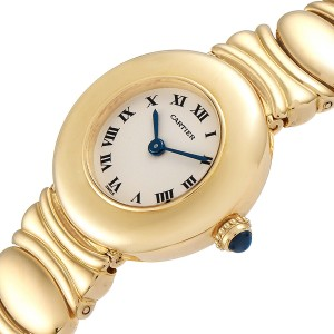 Cartier Colisee 18K Yellow Gold Silver Dial Ladies Watch